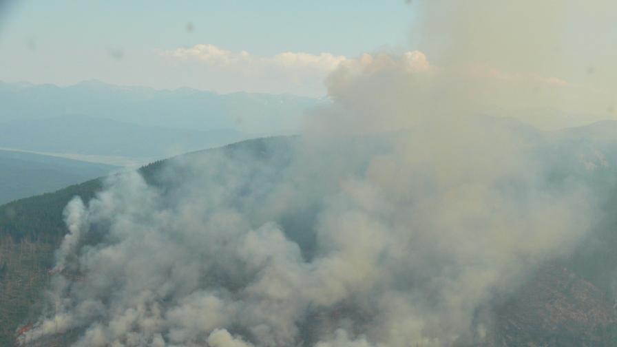 БАН: Атмосферата над 1500 м е останала чиста при пожара на Витоша