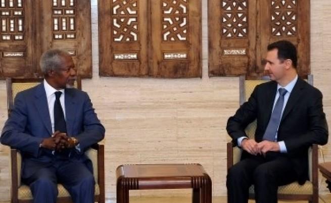 Плашат Асад с гибелта на Кадафи
