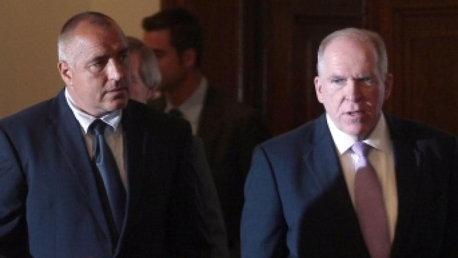 Министър-председателят Бойко Борисов се срещна в Министерския съвет с Джон Бренън, съветник на американския президент Барак Обама по въпросите на националната сигурност и борбата с тероризма