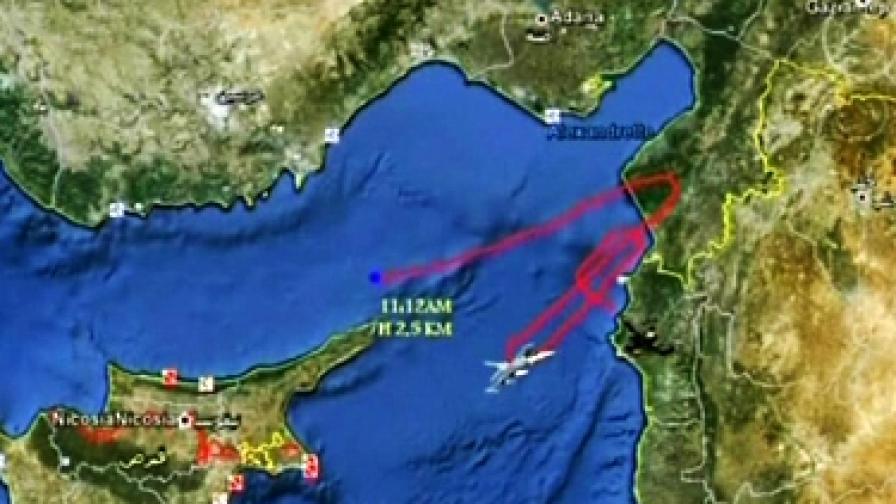 Нямало следи Сирия да е свалила турския самолет