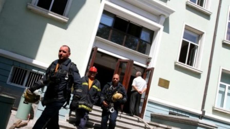 Пожар във варненски ВУЗ, няма пострадали