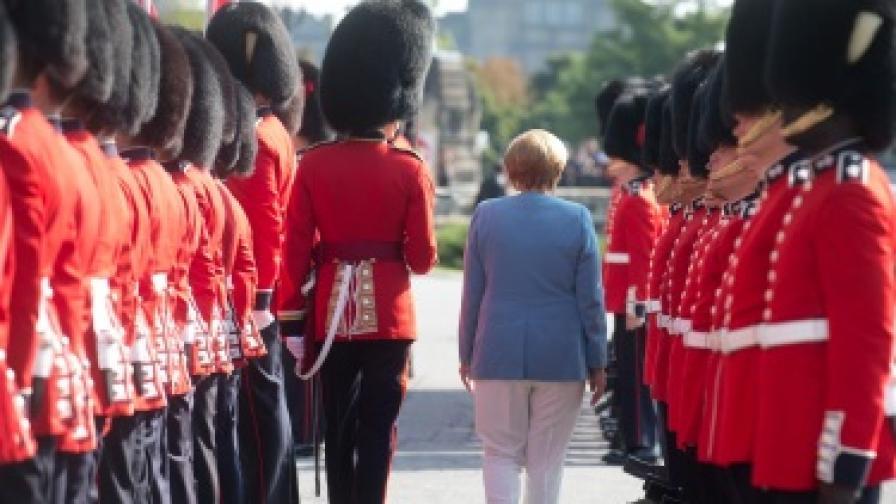 Германският канцлер Ангела Меркел на посещение в Канада