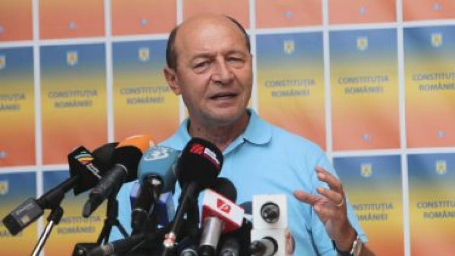 Траян Бъсеску се върна в президентския дворец