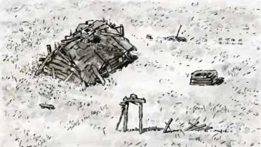 """Кадър от """"Майка и син"""" (2011), сценарист, режисьор, художник и аниматор Андрей Ушаков"""