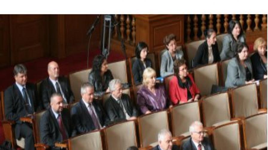 Кандидатите за членове на ВСС по време на гласуването