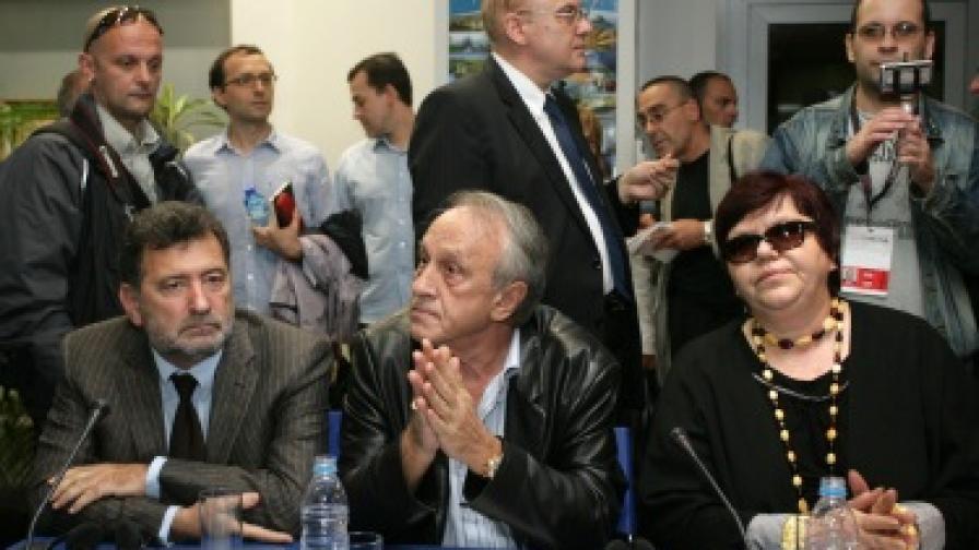Тошо Тошев на срещата с еврокомисаря Нели Крус