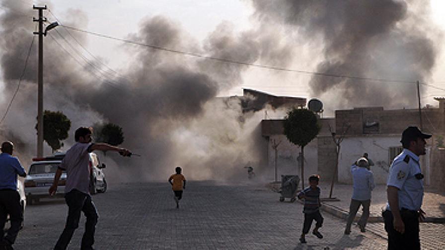 Турция отвръща на ударите на Сирия