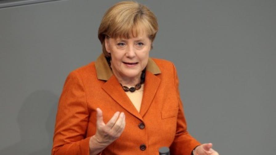 Ангела Меркел пред долната камара на германския парламент