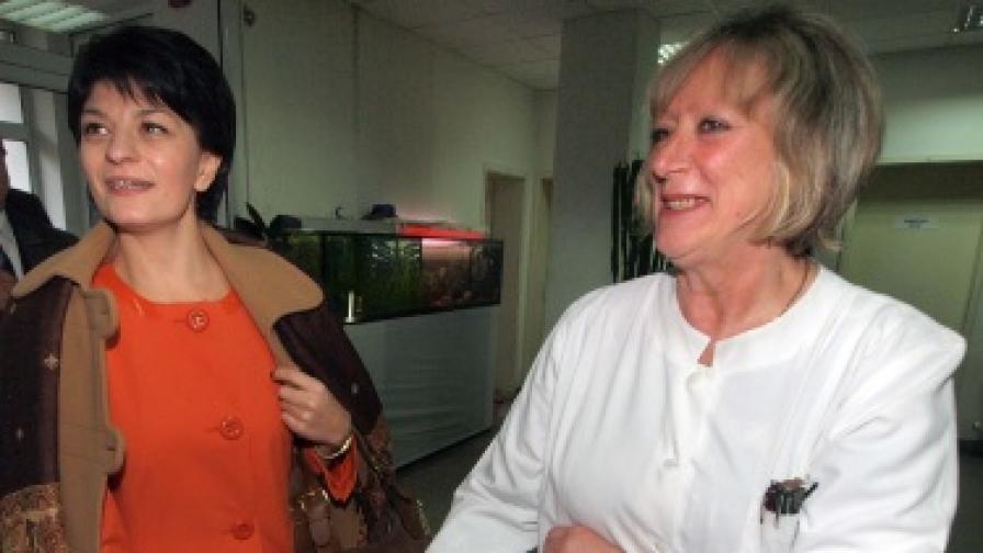 Десислава Атанасова се срещна със служители на кръвния център във Варна