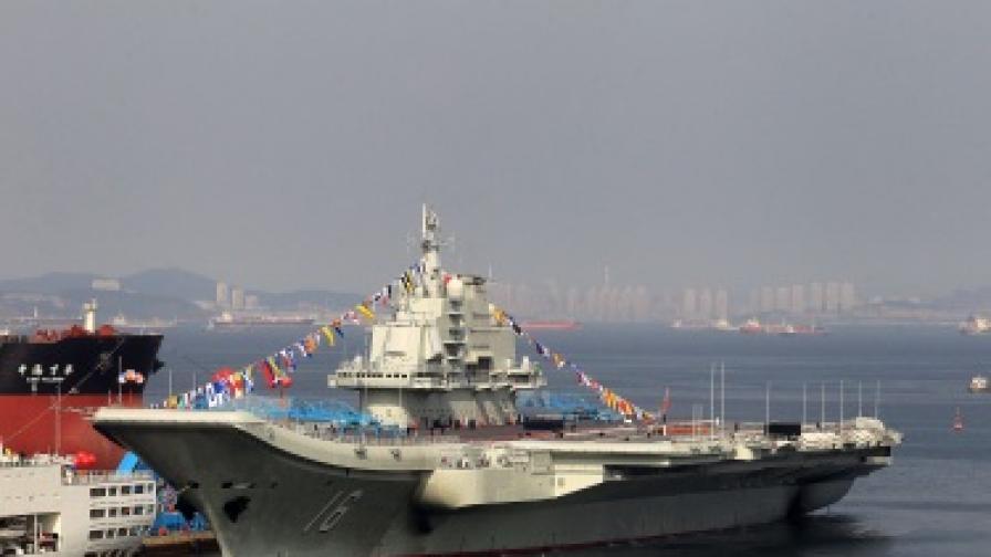 Китай изпробва успешно първия си самолетоносач