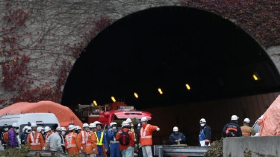 7 изчезнали при срутването на тунел на магистрала в Япония