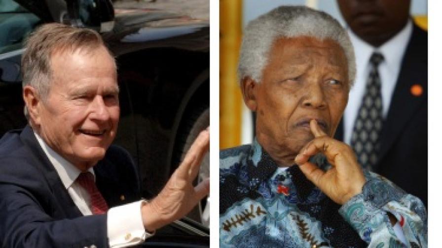 Джордж Буш, Нелсън Мандела
