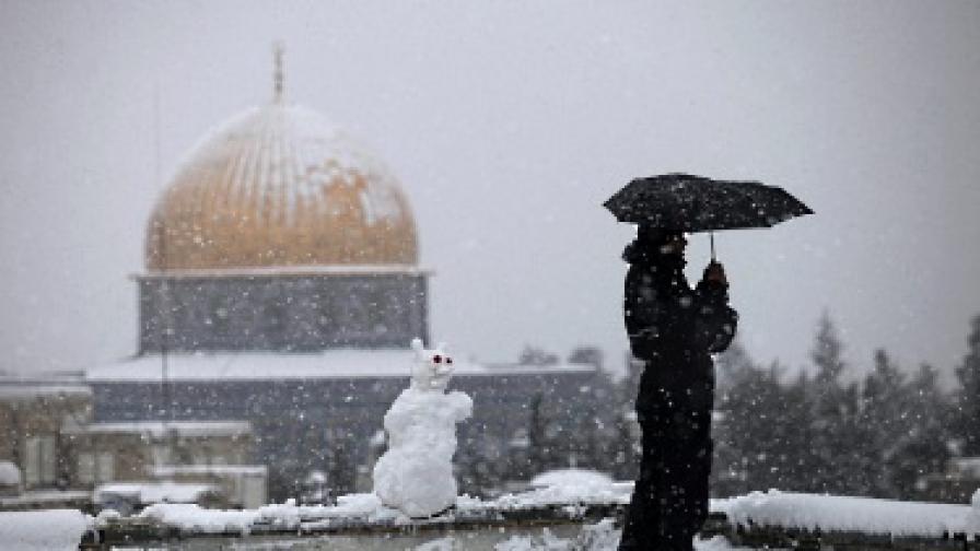 Снежна буря парализира Йерусалим