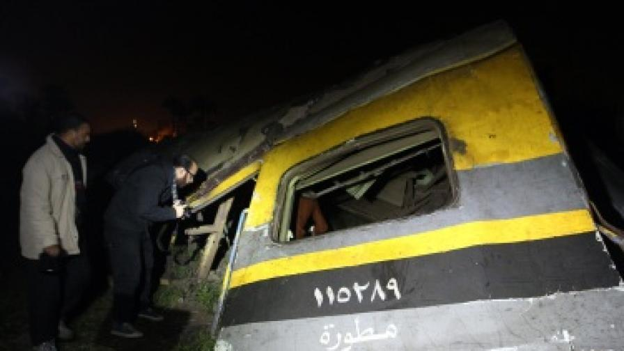 19 убити в във влакова катастрофа в Египет