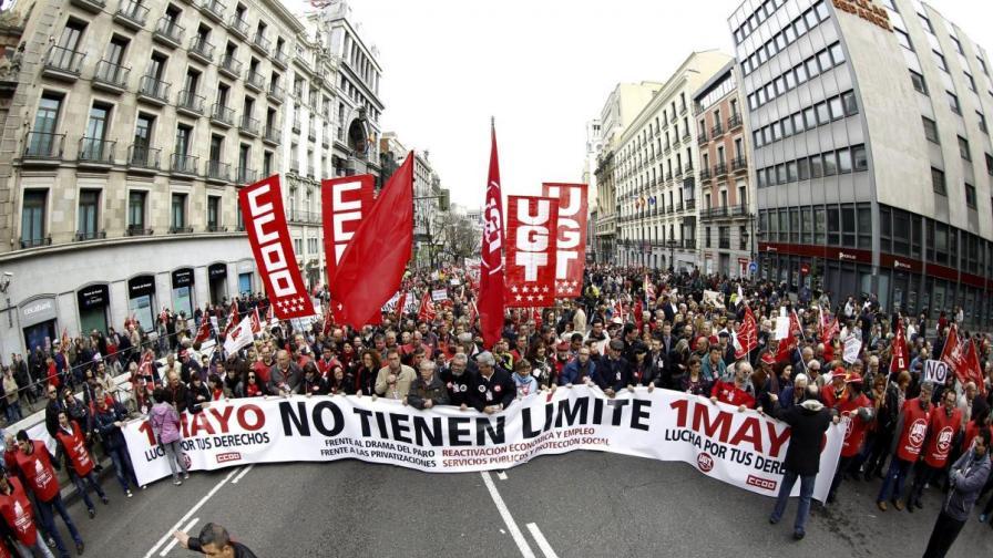 Протестите в Испания днес