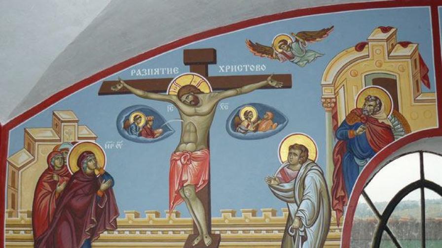 Стенопис в Параклис Св. Пророк Илия - с. Извор, Бургаско