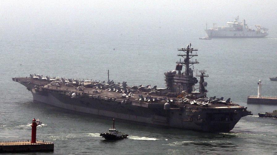 САЩ прати атомен самолетоносач на учения с Южна Корея