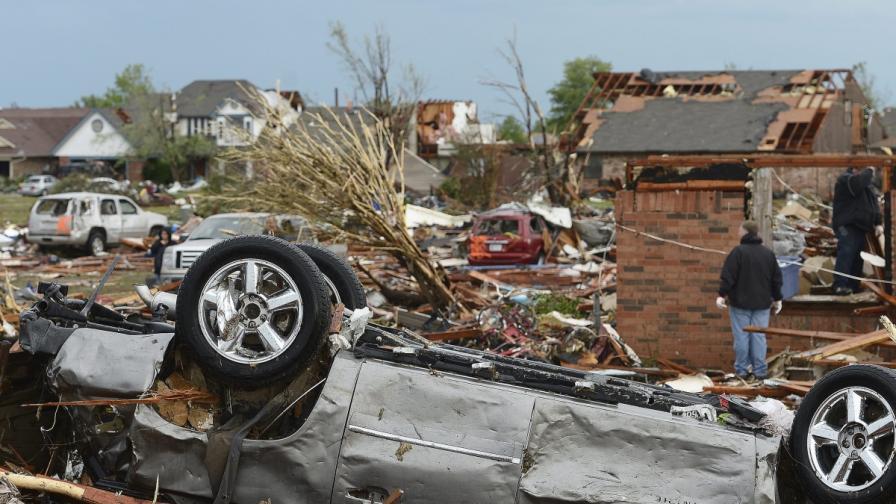 Торнадото над Оклахома освободило повече енергия от атомна бомба