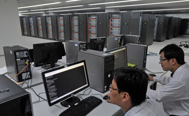 Китайски суперкомпютър е най-бързият в света