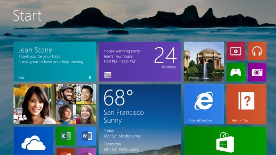 """""""Майкрософт"""" показа Windows 8.1"""