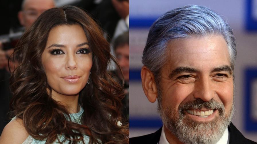 Джордж Клуни преследвал Ева Лонгория
