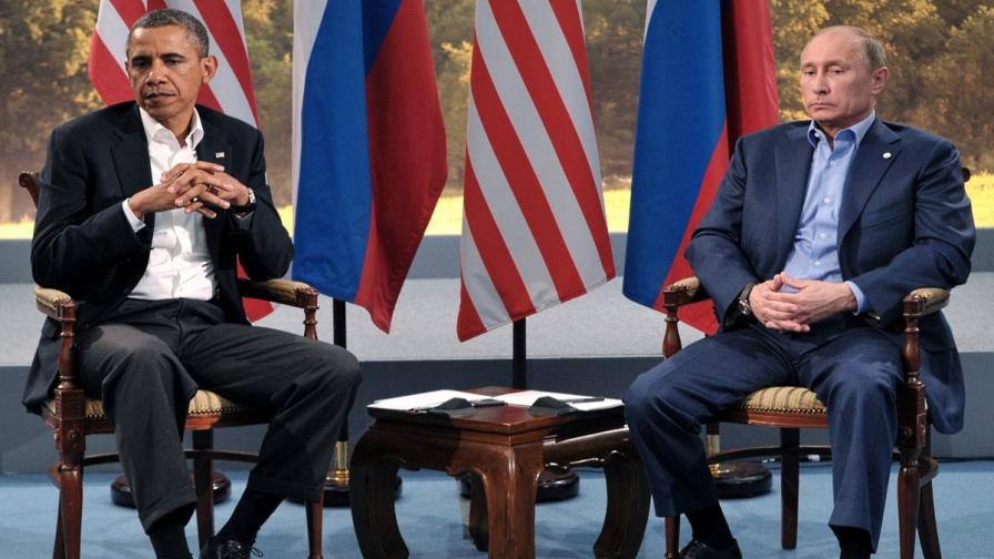 Обама и Путин през юни 2013 г.