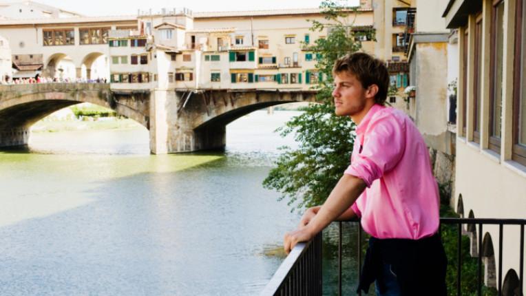 италианец мъж балкон Италия романтика