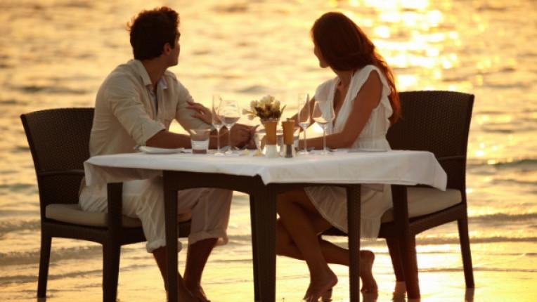 лято вечеря романтика море залез