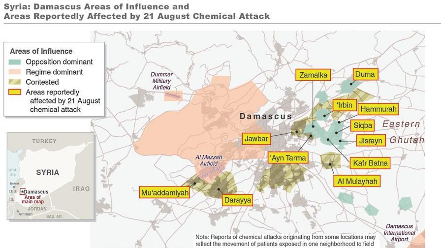 """""""Хюман райтс уоч"""": Режимът е отговорен за химическата атака в Сирия"""