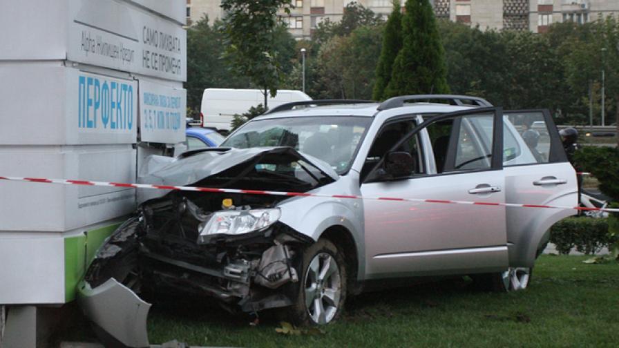 Счупен педал причинил катастрофата край Мола
