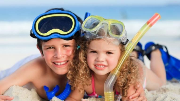 гмуркане шнорхел море ваканция спорт деца семейство съвети