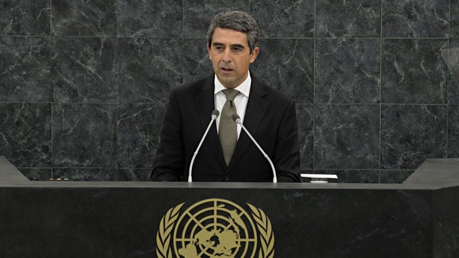 Плевнелиев пред ООН: Кризата в Сирия е риск за глобалната сигурност