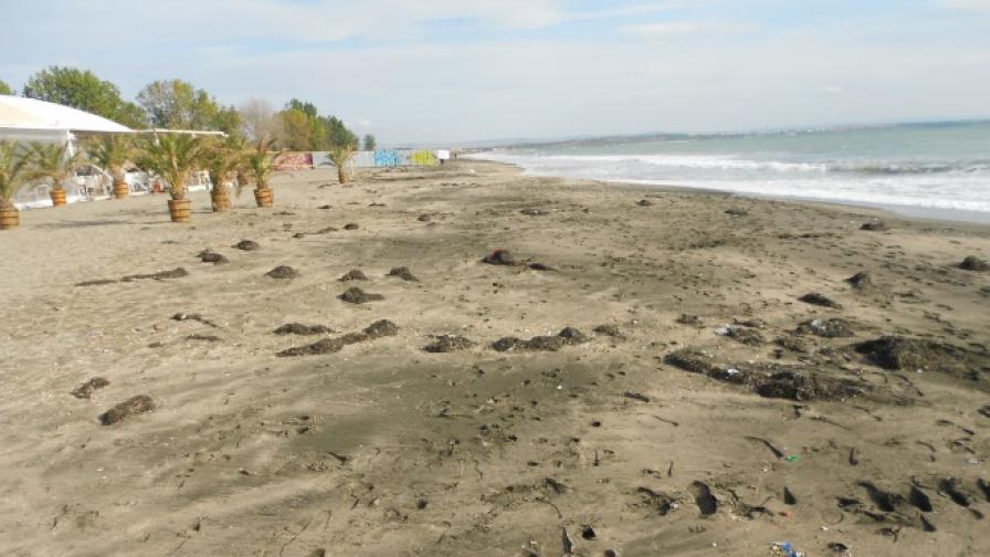 8-9 метра от пясъка на Северния плаж на Бургас е отнесен от силните вълни