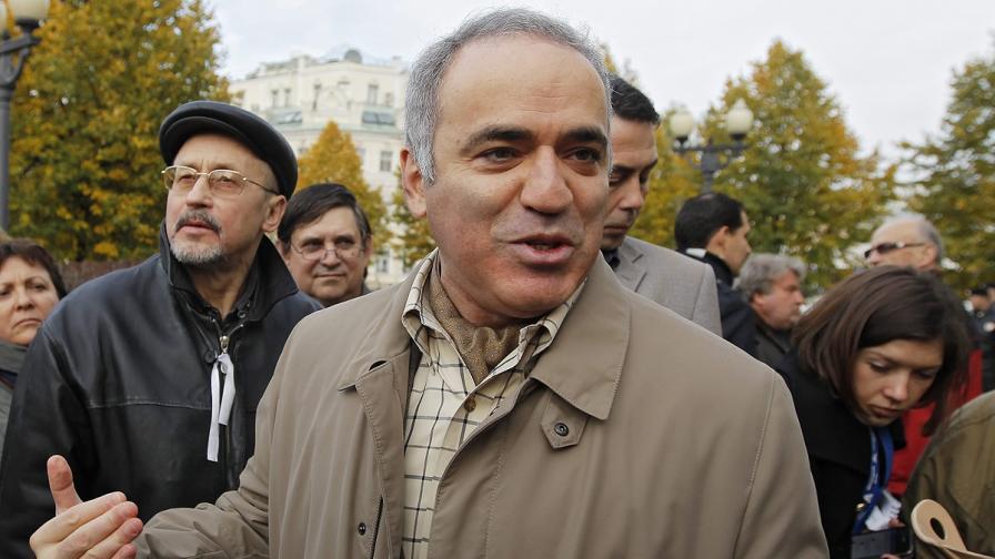 ЕСПЧ осъди Русия за ареста на Гари Каспаров през 2007 г.