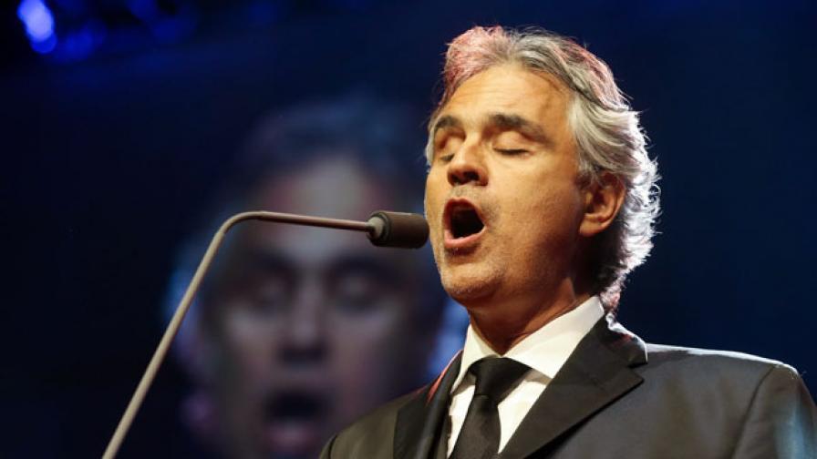Концертът на Андреа Бочели в България е с нови дата и място