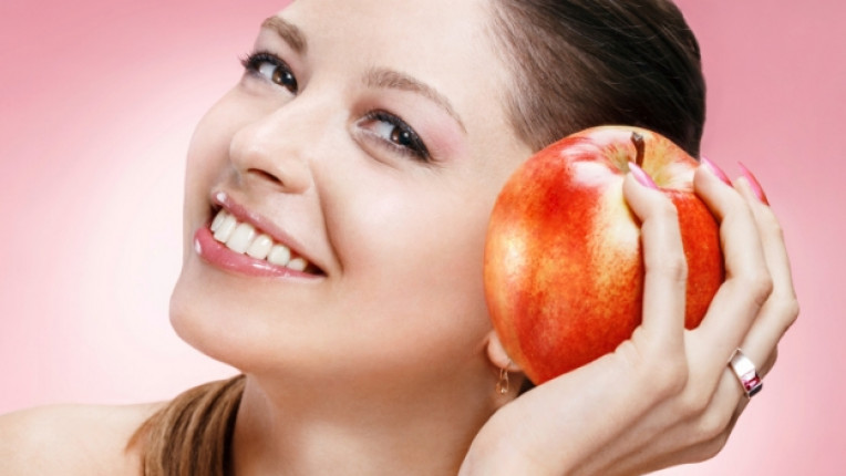 Ябълка красота лице коса