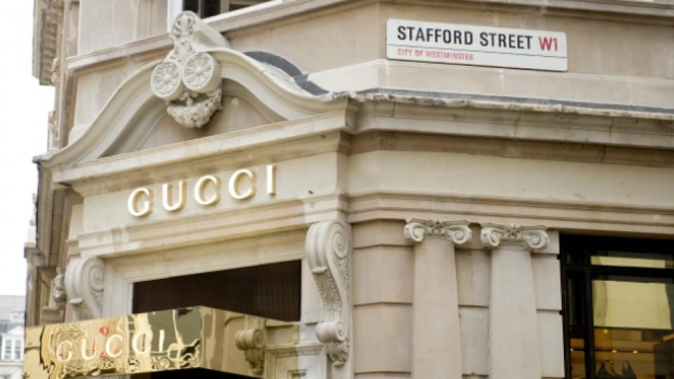 """Компанията """"Гучи"""" притежава близо 450 магазина, пръснати по целия свят"""