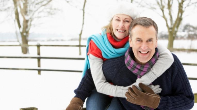 любов зима двойка мъж жена