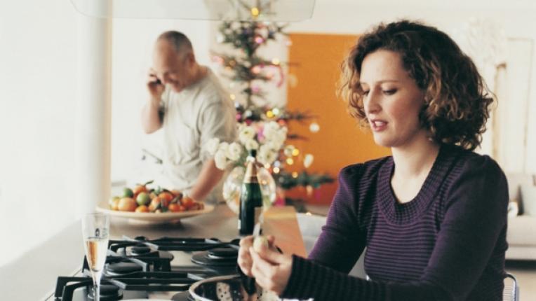мъж жена празници Коледа