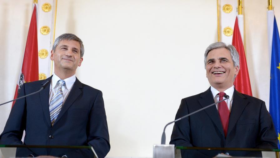 Социалдемократи и консерватори ще съставят коалиционно правителство в Австрия