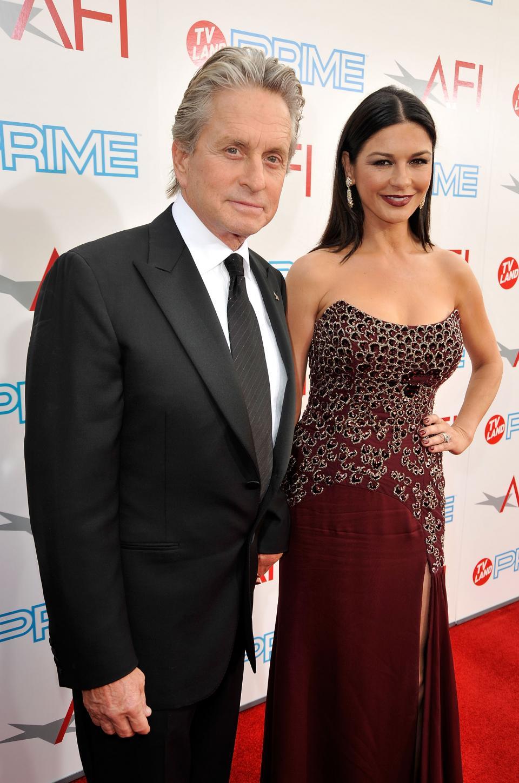 Майкъл Дъглас и Катрин Зита-Джоунс през 2009 г.