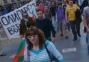 """Нина Гергова на един от първите протести срещу кабинета """"Орешарски"""""""