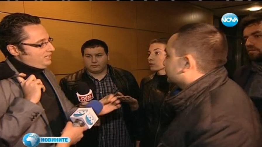 """Депутати от """"Атака"""" нахлуха в Нова телевизия"""