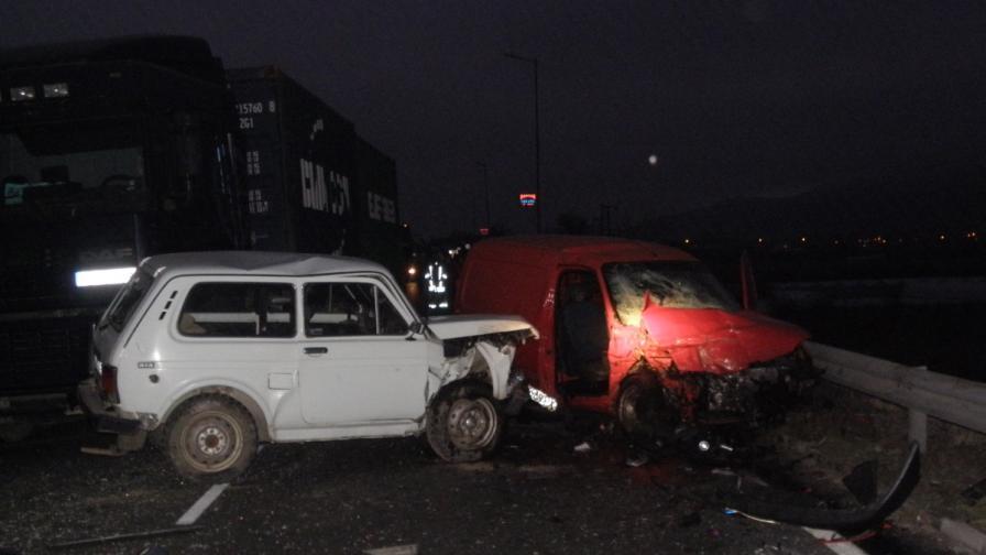 Тежка катастрофа край Сандански