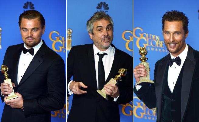 Лео ди Каприо, Алфонсо Куарон, Матю Макконъхи