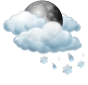 Cloudy and wet snow showers