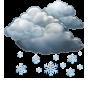 Облачно със сняг